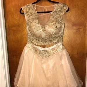 Gold Prom Dress Size 10